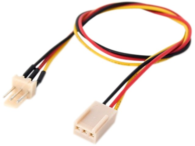 3-pin Extension Cable Fan Power Adapter 0.22M