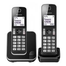 Panasonic KX-TGD312JTB Duo Black Dect Cordless Phone w/Caller ID and Handsfree