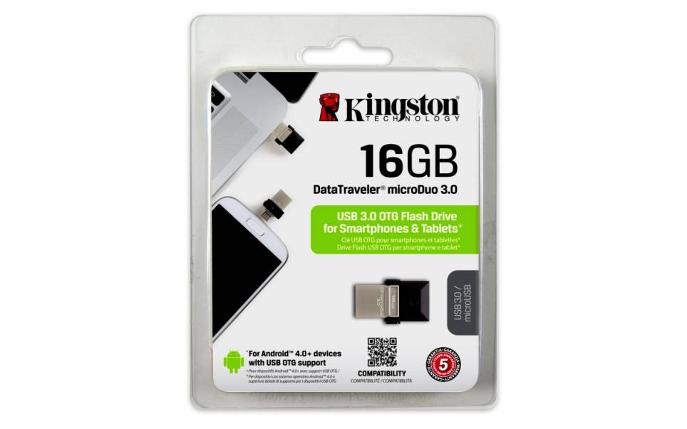 KINGSTON USB3.0 DT MICRO DUO 16GB-SILVER