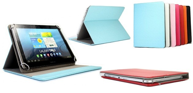 "UNIVERSAL LEATHER COVER FOR TABLET 6""- 7"""