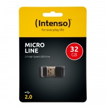 Intenso Slim Line 32GB USB 2.0 32GB Black USB flash drive