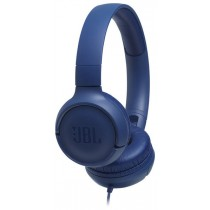 JBL Tune 500 Blue On-Ear Headphones w/ In-Line Mic