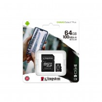 Kingston memory card microSDXC Canvas Select Plus (64GB | class 10 | UHS-I | 100 MB/s) + adapter