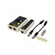 LogiLink® cable tester for RJ45 and BNC with remote unit