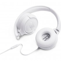 JBL Tune 500 White On-Ear Headphones w/ In-Line Mic