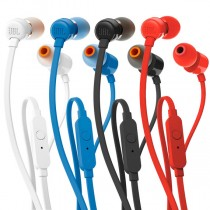 JBL T110 In Ear Headphones White/Black/Blue/Red