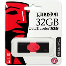Kingston 32GB USB 3.1 DataTraveler DT106 Memory Stick Flash Drive