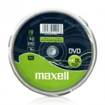 Maxell - 10 x DVD R DL - 8.5 GB 8x - spindle