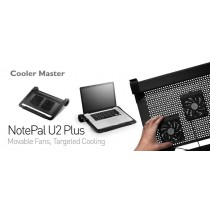 Cooler Master NotePal U2 Plus Laptop Cooler Black