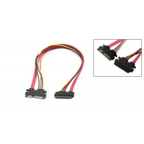 SATA power + data cable male to female