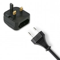 European 2 Pin to UK 3 Pin Plug Adaptor