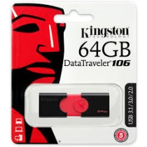 Kingston 64GB USB 3.1 DataTraveler DT106 Memory Stick Flash Drive