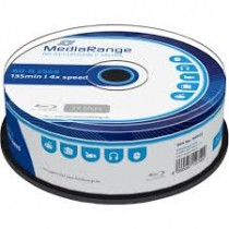 Blu-ray Disc Mediarange BD-R 25 GB, 1-4x Speed in Cakebox, 25 pieces