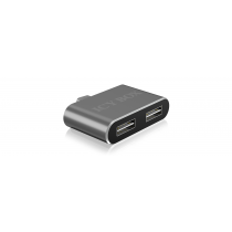 2 Port USB 2.0 Type-A hub with USB Type-C™ host interface