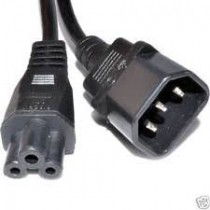 IEC 320 C14 (plug) to IEC 320 C5 (Mickey Mouse coupler)