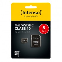 INTENSO MICRO SD CARD 8GB 3413460 CLASS 10 W. SD ADAPTER