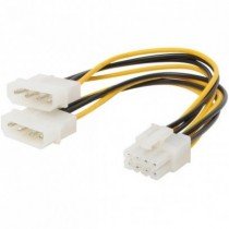 2x Molex to 8pin Graphic Card power Cable 13cm