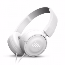 JBL T450 White On-Ear Headphones w/ In-Line Mic