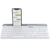 LOGITECH K580 SLIM MULTI-DEVICE WIRELESS KEYBOARD WHITE