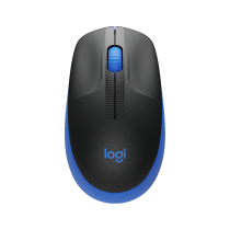 LOGITECH M190 FULL-SIZE WIRELESS MOUSE BLUE