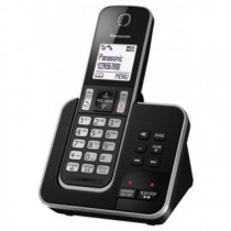 Panasonic KX-TGD320JTB Black Dect Cordless Phone w/Caller ID and Answering Machine