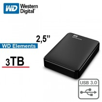 "WD Elements™ 2.5"" external hard drive 3 TB Black USB3"