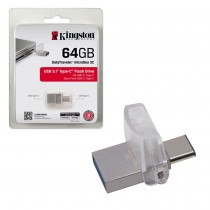 Kingston 64GB DT microDuo 3C, USB 3.0/3.1 + Type-C flash drive