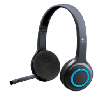 Logitech WL H600 Wireless Headset Stereo System with Mic Black