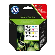 HP 932XL/933XL Ink Cartridge Combo Pack - Black/Tri Colour